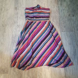 Super cute colorful summertime strapless dress